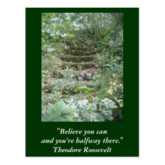 Carte inspirée. Citation par Roosevelt