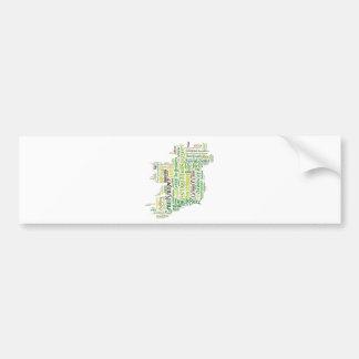 Carte irlandaise d'argot autocollant de voiture