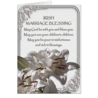 Carte irlandaise de bénédiction de mariage