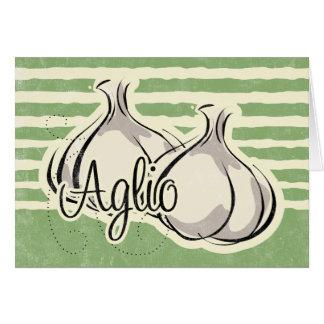 Carte italienne d'ail