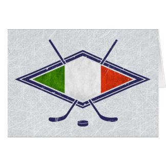 Carte italienne de logo de drapeau de hockey sur