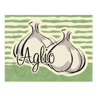 Carte italienne de recette d'ail