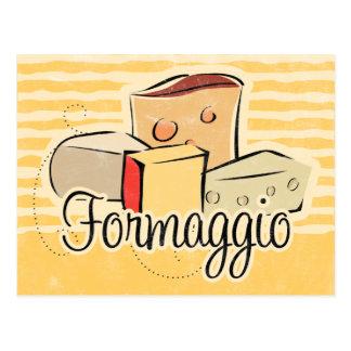 Carte italienne de recette de fromage cartes postales