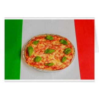 carte italienne d'invitations de pizza