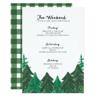 Carte Itinéraire de week-end de cabine - partie Weeke de