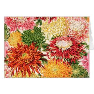 Carte japonaise de chrysanthème de tissu de Philip