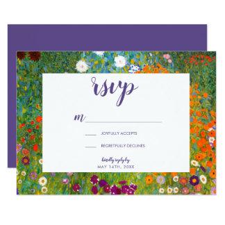 Carte Jardin d'agrément par Gustav Klimt RSVP floral