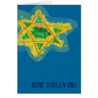 Carte jaune de Mitzvah de barre d'étoile