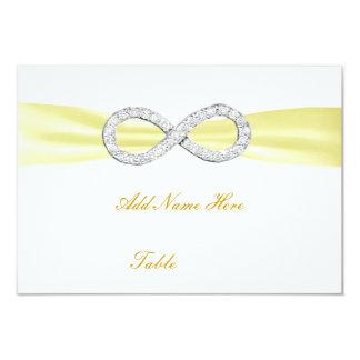 Carte jaune d'endroit de Tableau de mariage Invitations Personnalisées