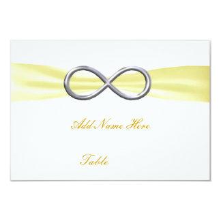 Carte jaune d'endroit de Tableau de mariage Cartons D'invitation