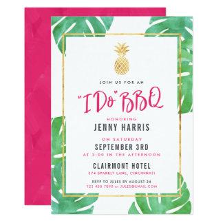 Carte Je fais BBQ, wedding shower tropical de Luau