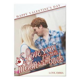 Carte Je t'aime à la lune et au dos - Saint-Valentin