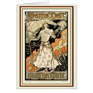 Carte :  Jeanne D'Arc, Sarah Bernhardt