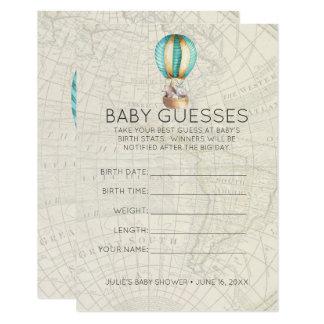 Carte Jeu de devinettes chaud de baby shower du ballon à