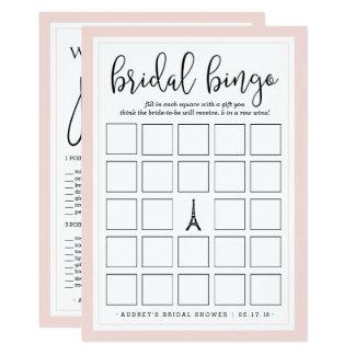 Carte Jeu nuptiale double face de bingo-test et de