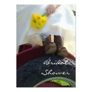 Carte Jeune mariée à l'invitation nuptiale de douche de