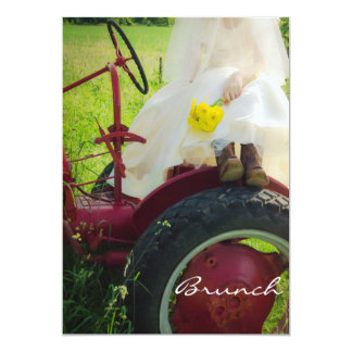 Carte Jeune mariée sur le brunch de mariage de courrier