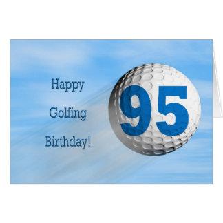 carte jouante au golf de quatre-vingt-quinzième