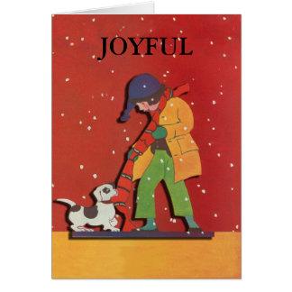 Carte joyeuse de Noël et de vacances