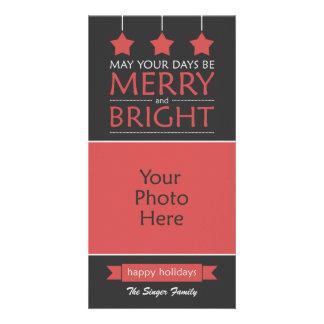 Carte Joyeuse et lumineuse photo rouge de vacances