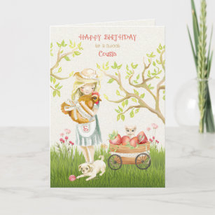 Cartes Cousine Fille D Anniversaire Zazzle Fr