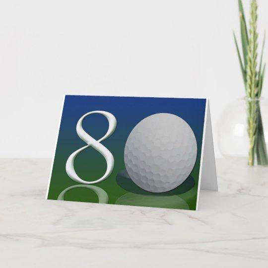 Carte Joyeux Anniversaire A L Ecrou De Golf De 80 Ans Zazzle Fr