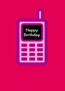 Cartes Telephone Portable D Anniversaire Zazzle Fr