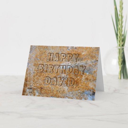 Carte Joyeux Anniversaire David D Age De Pierre Zazzle Fr