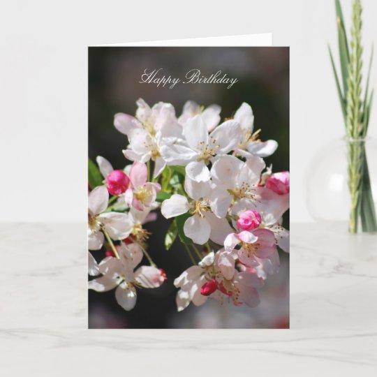Carte Joyeux Anniversaire De Fleurs De Cerisier Zazzle Fr