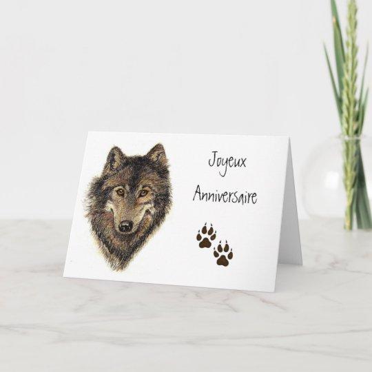Carte Anniversaire Loup.Carte Joyeux Anniversaire Loup Loups Animal