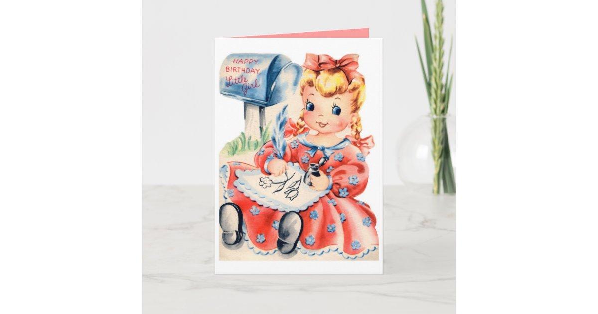 Carte Joyeux Anniversaire Petite Fille Zazzle Fr