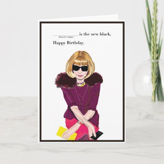 Carte Joyeux Anniversaire Pour Le Fashionista Zazzle Fr
