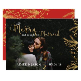 Carte Joyeux bientôt pour être économies mariées de Noël