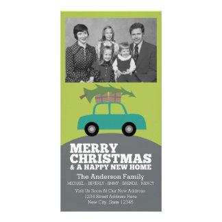 Carte Joyeux Noël avec le nouveau déplacement d'adresse