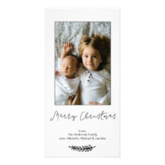 Carte Joyeux Noël blanc noir simple