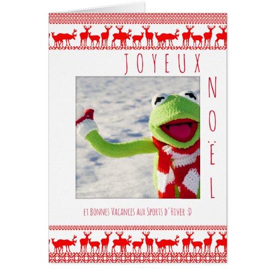 Carte Joyeux Noel boule neige ajouter votre photo