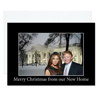Carte Joyeux Noël de Donald et de Melania