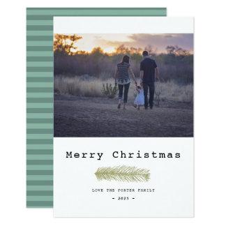 Carte Joyeux Noël de pin moderne
