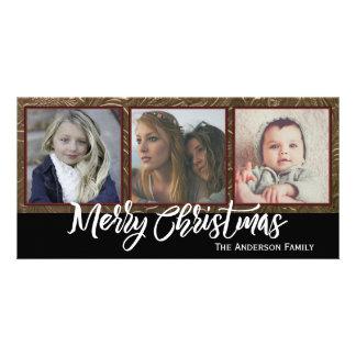 Carte Joyeux Noël de trois photos