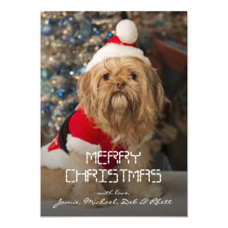 Carte Joyeux Noël des pattes de Père Noël