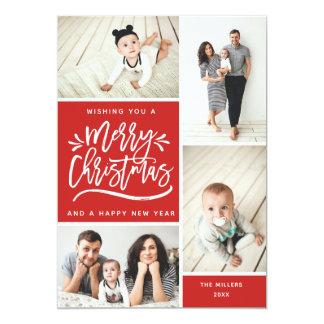 Carte Joyeux Noël et photo multi de bonne année