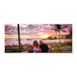 Carte Joyeux Noël Mele Kalikimaka d'Hawaï