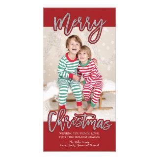 Carte Joyeux Noël Photocard