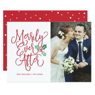 Carte Joyeux pour toujours épouser la photo de vacances