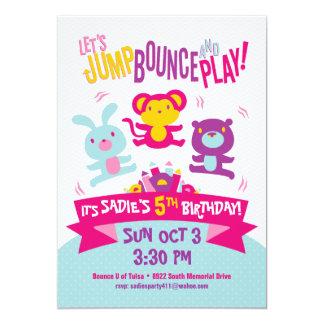 Carte *Jump, rebond et Play* d'invitation d'anniversaire