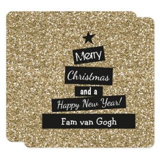 Carte Kerst le Glitter et le Glamour
