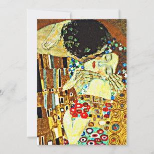 Carte Klimt - Le Kiss, Closeup