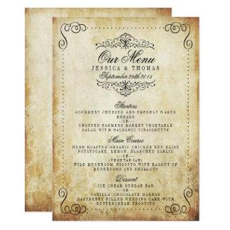 Carte La collection vintage de mariage de Flourish