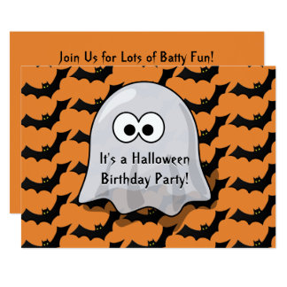 Carte La fête d'anniversaire mignonne de Halloween de
