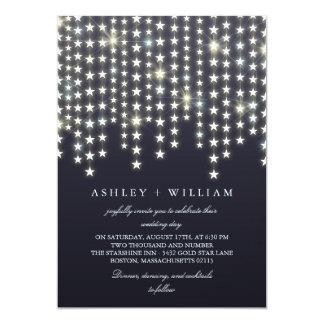 Carte La ficelle d'étoile allume le mariage bleu-foncé
